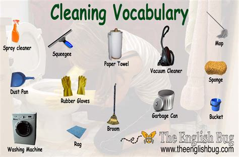 music to clean the house to cleaning vocabulary the english bug