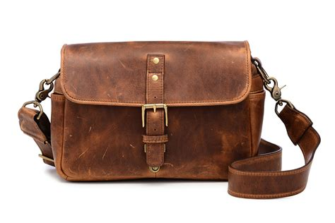 The Leather ona the leather bowery bag and insert antique