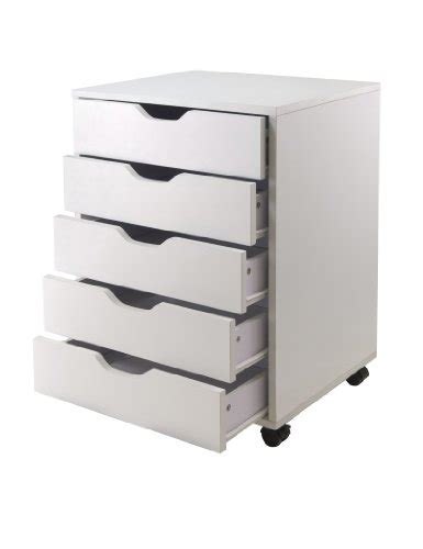 winsome halifax cabinet for closet office 5 drawers