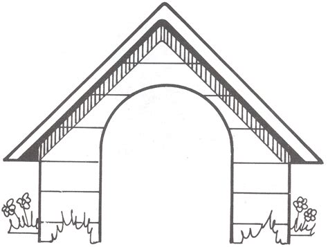 dog house outline dog related sts