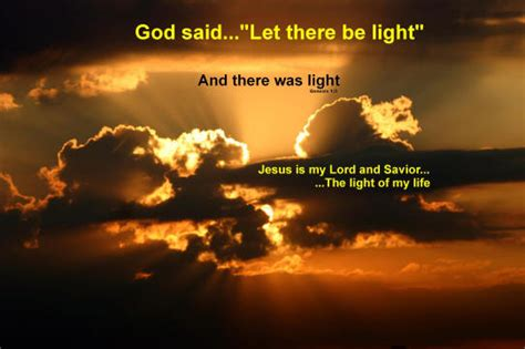 god said let there be light say what he says