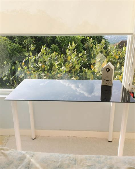 ikea glasholm glass desk if the glass desk fits ikea glasholm php3900 bless my bag