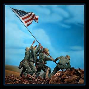 iwo jima flag raising the original painting is oil on