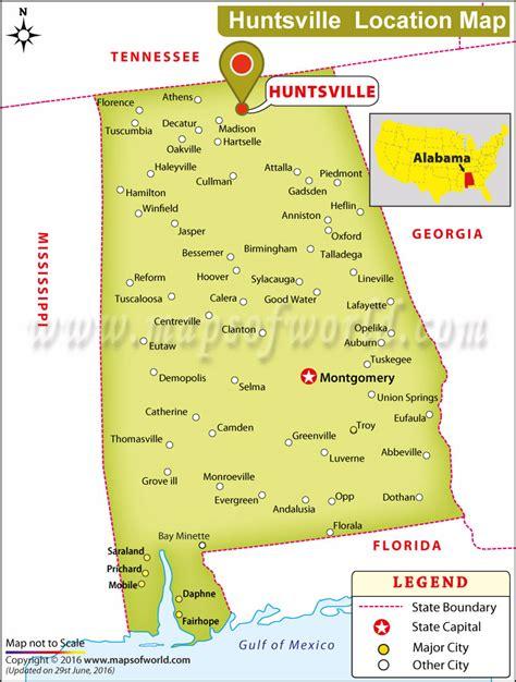 alabama on map of usa where is huntsville located in alabama usa