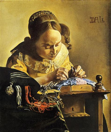 the lacemaker vermeer s lacemaker copied by salvador dali