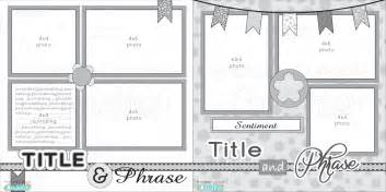 scrapbooking layout templates 12x12 two page free printable scrapbook layout scrapbook
