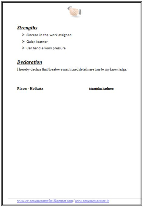 1 page resume exle free template best free template for you