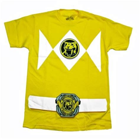 Dg Back To Big Size Tshirt power rangers yellow ranger costume licensed yellow