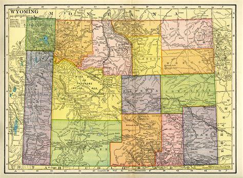 wyoming map wyoming homesteading wyoming historical maps