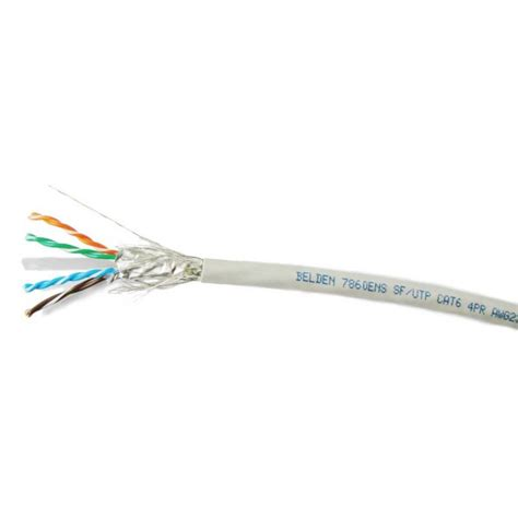 St P stp cable belden 7860ens s ftp cat 6 cable 23awg bonded pairs 500m reels