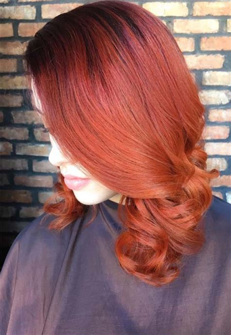 copper colored hair 50 copper hair color shades to swoon fashionisers 169