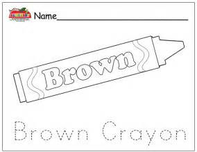brown coloring pages free coloring pages of brown crayon