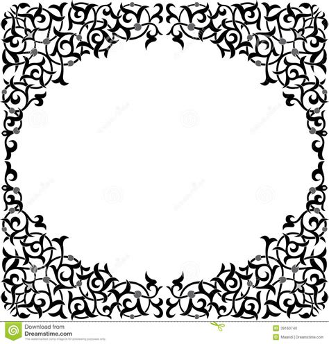 Oriental Ornament Pattern Stock Vector Image Of Craft 39160740 Ornament Stencil Template