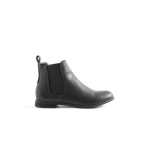 erin black flat ankle boots parisia fashion