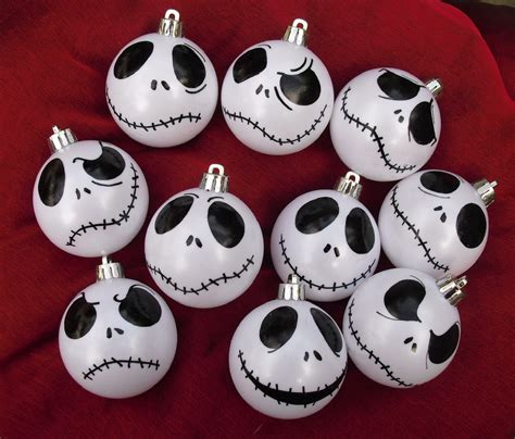 set of 9 jack skellington ornaments by dressingerroomcorner