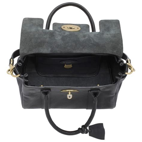 Small Satchel by Lyst Mulberry Bayswater Small Leather Satchel In Black