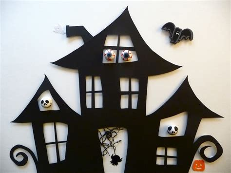 How To Make A Haunted House Out Of Paper - haunted house cutout create your own with the