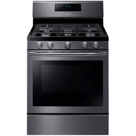 Samsung Range by Samsung 30 In 5 8 Cu Ft Gas Range With Self Cleaning And Fan Convection Oven In Black