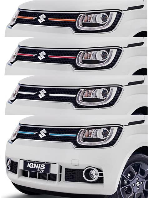 Suzuki Ignis List Bumper Depan Jsl Front Bumper Trim Emboss Chrome coloured front grille centre bar trim new ignis