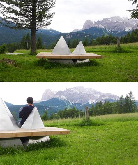 mountain bench 15 of the most creative benches and seats ever bored panda
