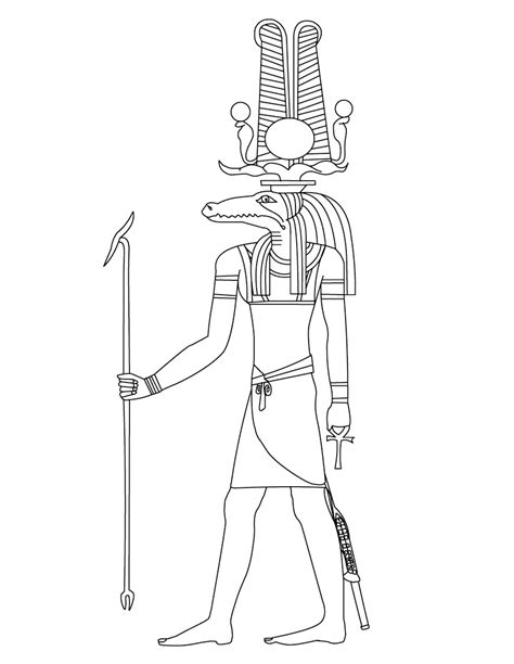 Free Coloring Pages Of Ancient Egyptian Gods God Is Coloring Pages