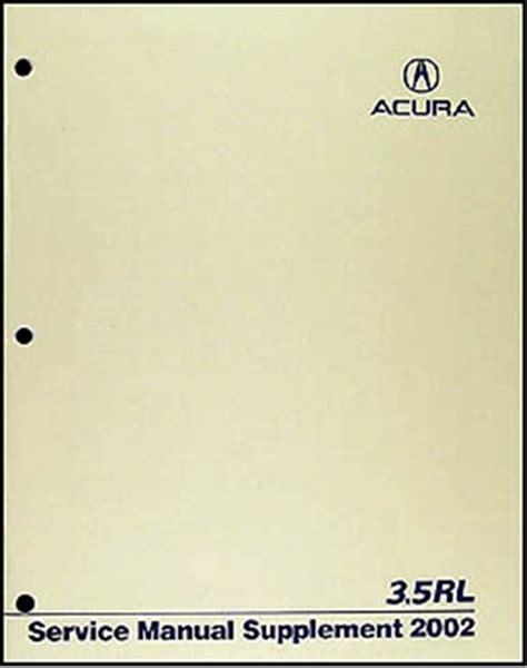1999 acura rl service manual 1996 2004 acura 3 5 rl body repair shop manual original