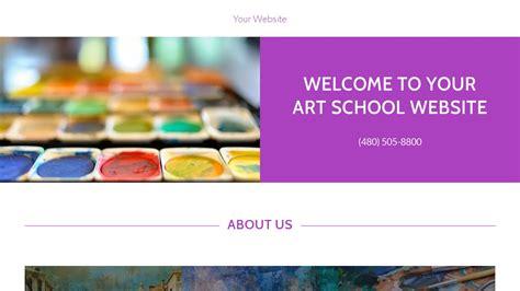 Art School Website Templates Godaddy Godaddy Newsletter Templates
