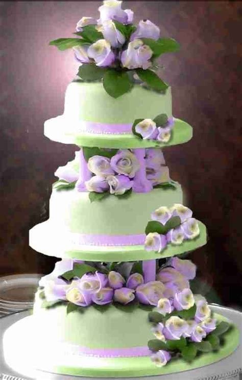 Chocolate Wedding Cake Mint Icing Violet Roses   cake
