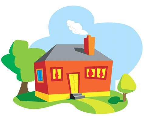 cartoon pictures  homes clipartsco