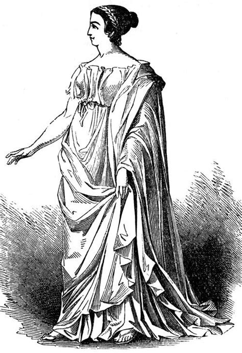 design roman clothes roman woman wearing a stola and palla a stola was