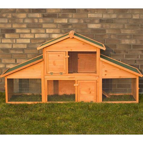 gabbie esterne per conigli conigliera da esterno in legno con recinto per giardino