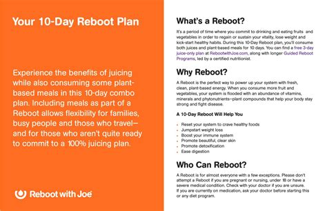plans for s day reboot with joe 10 day plan 1 by dilu issuu
