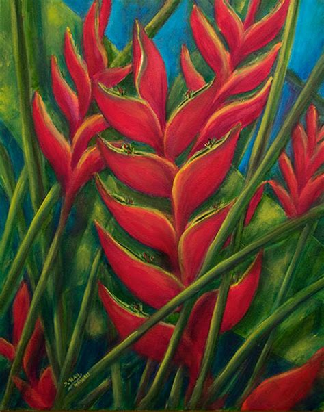 hawaiian flower painting hawaii tropical flowers paintings prints for sale by