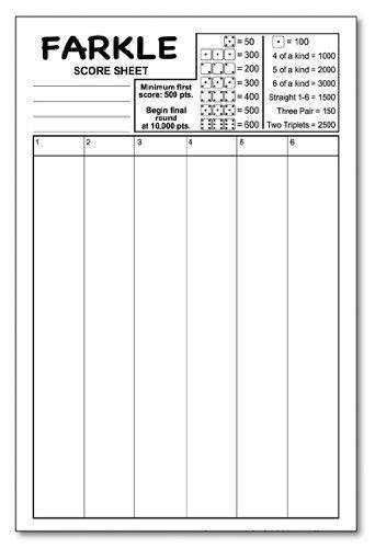 printable directions for farkle farkle score pad 5 5 quot x 8 5 quot 50 sheets notepad guajolote