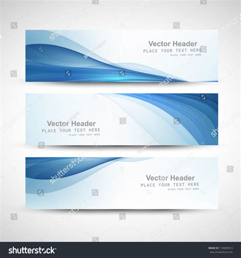 layout header abstract header blue wave whit vector stock vector