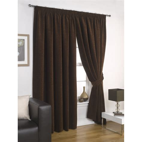 urban curtains urban living capri chocolate lined ready made curtains