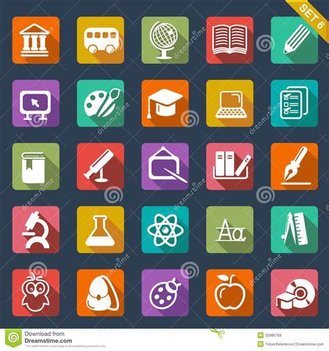 design education icon education icon set flat design royalty free stock images