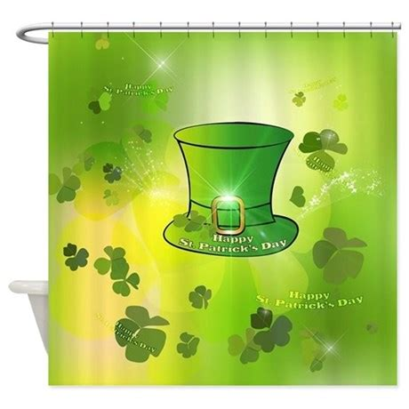 st patricks day shower curtain st patrick s day green hat shower curtain by fantasyworld7