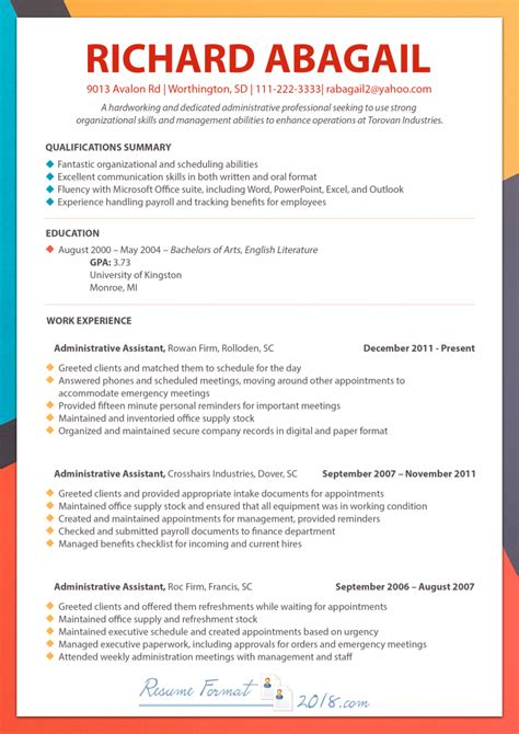 Chronological Resume Template 2018 Make A Chronological Resume Template 2018 Work For You