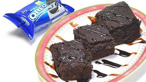 resep  membuat brownies oreo  bahan super mudah
