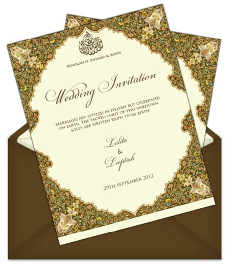 indian muslim wedding card templates letter style email indian wedding card design 66 email