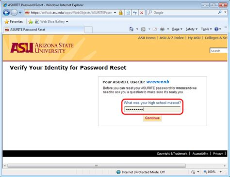 Asu Mba Program Requirements by Changing An Asu Password W P Carey School Of Business