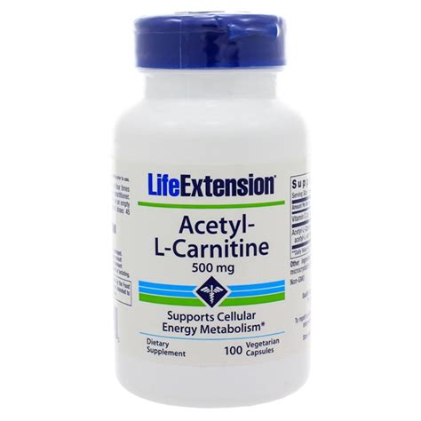 Acetyl L Carnitine Detox by Extension Acetyl L Carnitine 500mg 100 Capsules