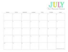 July 2014 Calendar Template by Calendar July 2014 Calendar Template 2016