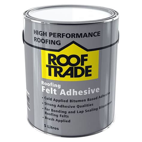 trade roofing felt rooftrade black roofing felt adhesive 5l departments