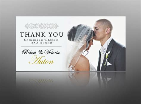 wedding thank you photo cards creative christening invite designs thank you cards for