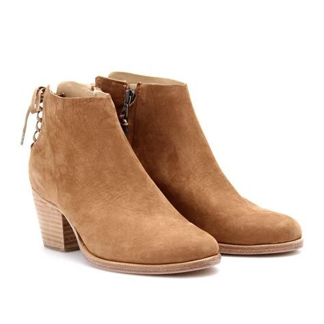 camel boots rag bone bannon suede ankle boots in brown camel lyst