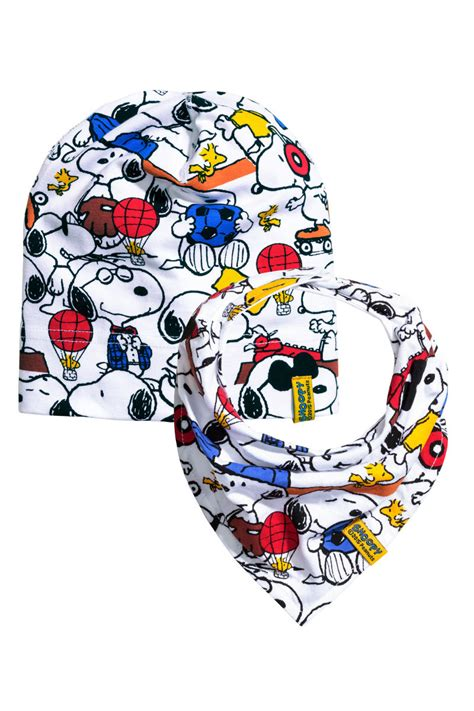 Uq Hm Set Snoopy hat and scarf white snoopy sale h m us