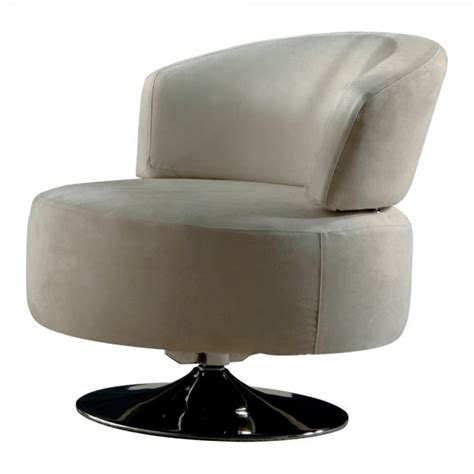 circular swivel armchair gillmore space circular swivel based cream suede armchair gillmore space from fusion