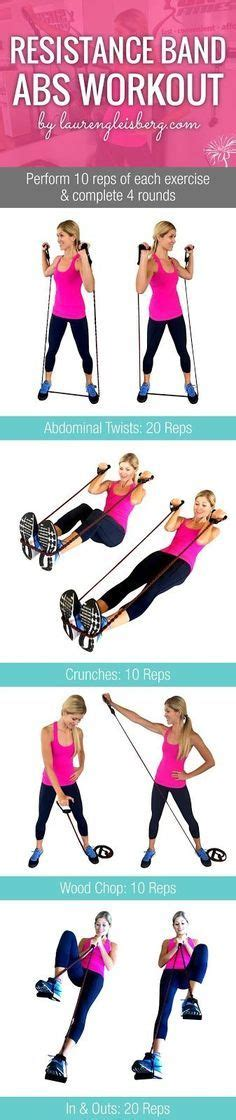 90 best resistance band exercises images on exercise workouts exercise band